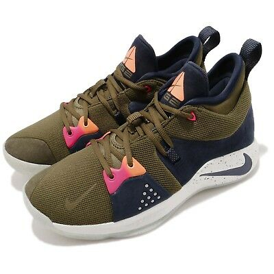 75fb82b04272 Nike PG 2 EP Paul George ACG Inspired Olive Obsidian Basketball Shoes AO2984 -300