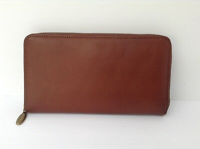 Longaberger Country Estates leather wallet rare and retired, excellent condition