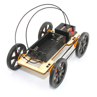 DIY Mini Car Model Kit Battery Powered Children Kids Educational Toy Gift