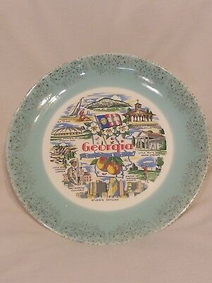 Vintage Georgia Collectible Decorative State Plate