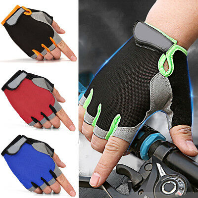 Women Men Sport Cycling Fitness GYM Workout Exercise Half Finger Gloves Training