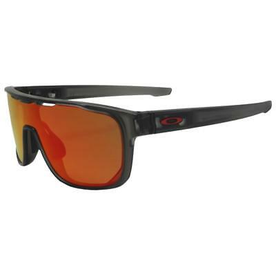 7bcbb8dcbfc Oakley OO 9387-0431 CROSSRANGE SHIELD Matte Grey Smoke Prizm Ruby Sunglasses