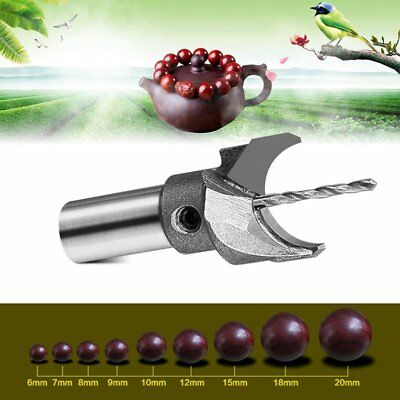Solid Carbide Wooden Woodwork Router Bit Buddha Ball Bead Molding Drill Tool YU