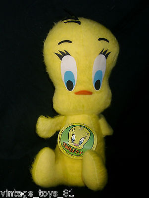 "13 "" Vintage Titti Bird Mighty Star Warner Bros 1971 Giocattolo Peluche Peluche"