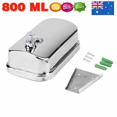 Stainless Steel Commercial Grade Polished Wall Mounted Lotion Soap Dispenser New