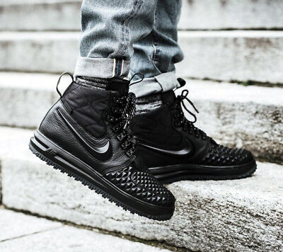 best sneakers f6d78 345bf AF1 NIKE LUNAR Force 1 Duckboot 17 High Triple Black All Weather Boots  916682 Sz