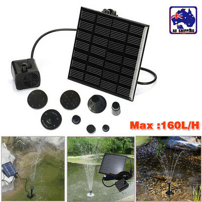 Solar Panel Water Pump Kit Fountain Pool Garden Pond Submersible Watering NEW