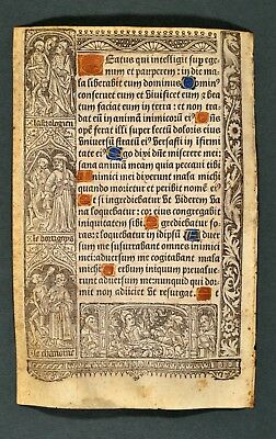 1507 Vostre Book of Hours Hardouin Psalm Totentanz Dance of the dead Pergament
