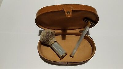 Set Barba Tonal Vintage Pennello Rasoio Madreperla