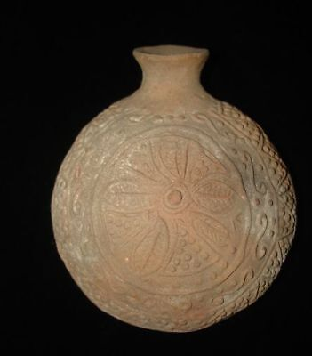 Museum Piece  Ancient Decorated Flask!  2500Bc  Early Bronze Age   Magnificent!