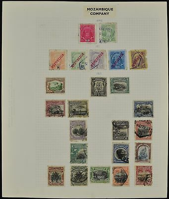 Mozambique Company Album Page Of Stamps #V7670