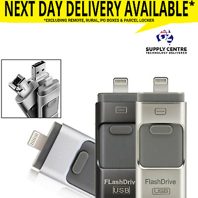 32GB i Flash Drive USB Memory Stick HD U Disk 3 in 1 for Android/IOS iPhone PC