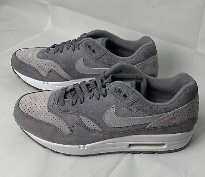 Nike Air Max 1 Premium Cool Grey Wolf Suede Size 8 Shoes New 875844-005 c01e8f68b