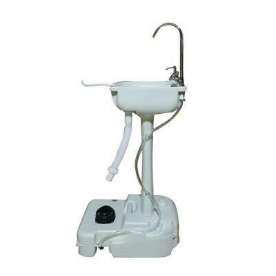 New Camping Hiking White Outdoor/Indoor Wash Sink Basin Faucet Portable HDPE