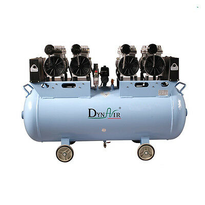 Medical 100L Oil free Noiseless Air Compressor Motors 3HP for 7 Dental Chairs