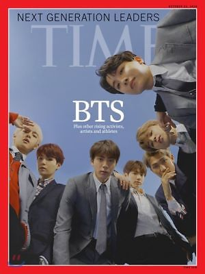 [ Magazine + Unfolded Poster Tube ] BTS Time Asia Edition Coverman October 2018
