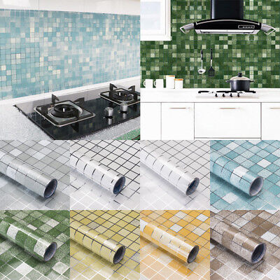 Kitchen Waterproof Oil Proof Stickers Aluminum Foil Self Adhesive Wall Sticker