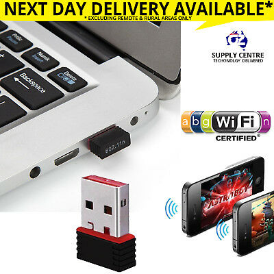 USB Wireless N WiFi Adapter Dongle Network LAN Card 802.11n 300 Mbps Windows 10