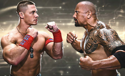 John Cena And The Rock Wwe A2  Poster Print