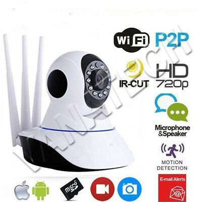 Telecamera Ip Cam Camera Hd 1080P Wireless Led 3 Antenne 2 Mp Megapixel 360°