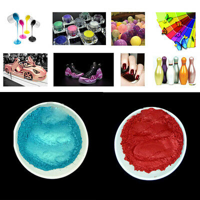 100g 2Colors Pearl Pigment Powder Metal Sparkle Shimmer Paint DIY 400 Grit