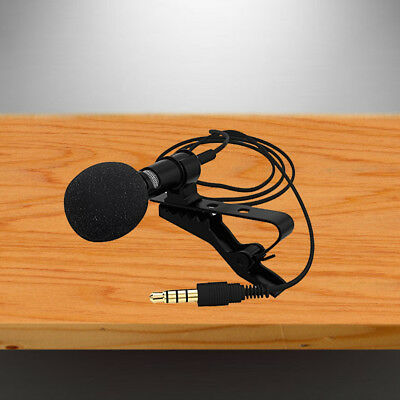 For Mobile Phone PC Clip-on Lapel Mini Lavalier Recording Mic Microphone 3.5mm
