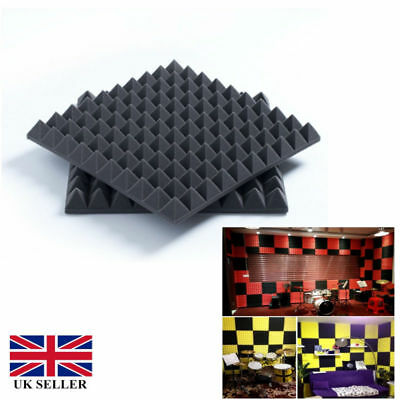 6/12pcs 30X30X5CM Soundproofing Acoustic Foam Tiles Noise Sound-Absorbing F R