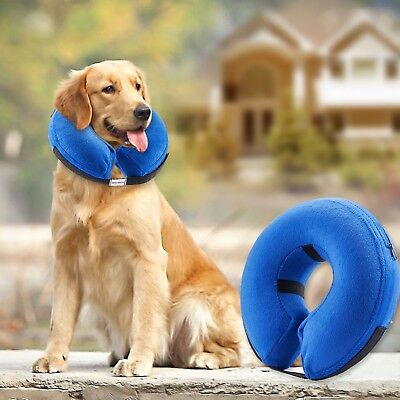 Protective Inflatable Collar for Dogs and Cats - Soft Pet Recovery Collar Does N