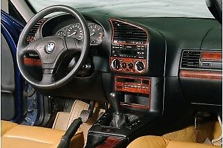 FOR BMW E36 3 SERIES INTERIOR Dash Trim Kit 3M DASH TRIM BURL WOOD 20 PCS 91-98