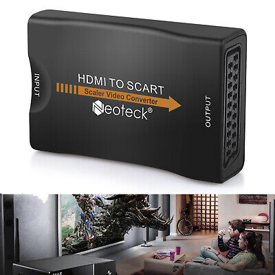 Convertitore Da Hdmi A Scart Adattatore Video Audio Stereo Tv 1080P Full Hd Usb