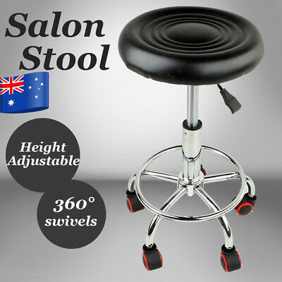 AU Ship Salon Stool Hairdressing Barber Chair Beauty Swivel PU Equipment Lift