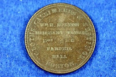 1835 - Boston Massachusetts Hard Times Token Milton Cashmere HT-163!!  #H11897