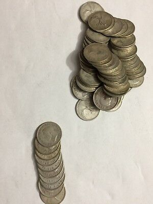 Lot Of 10 Canada Silver Quarters 25 Cents 80% Silver Mixed Dates