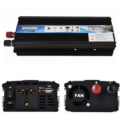 3000W 4000W 5000W Car Solar Power Inverter DC12Vto110V 220VAC Portable Converter