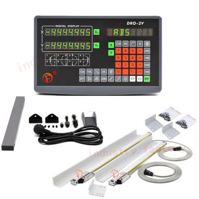 2 Axis Digital Readout Linear Scale 250&350mm DRO Ruler Milling Drilling Machine