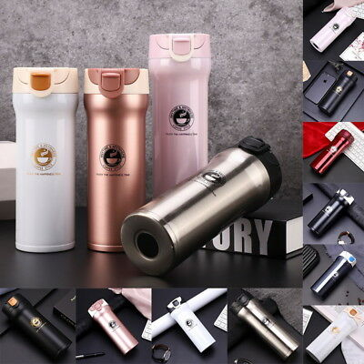 1PC Stainless Steel Insulated Vacuum Flask Coffee Tea Mug Double Wall Vacuum Cup