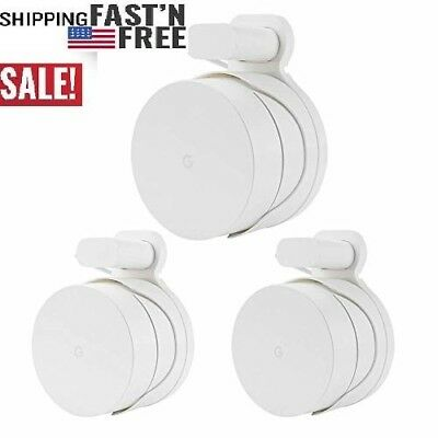 3 Packs Wall Outlet Mount Holder Stand for Google WiFi Routers and Beacons, Buil