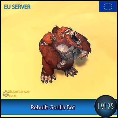 Rebuilt Gorilla Bot lvl25 Pet BFA | All Europe Server | WoW Warcraft Loot
