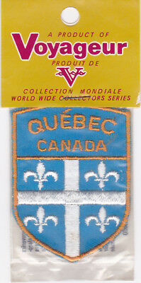Vintage Embroidered Souvenir Patch Woven Cloth Sew-On Badge Quebec Canada
