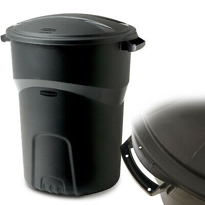 32 GALLON WHEELED TRASH CAN With Lid Garbage Container Outdoor Wheel Waste Bin