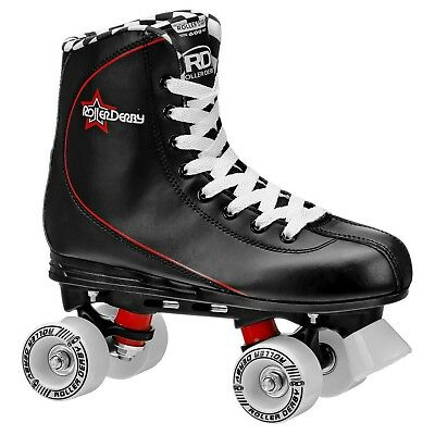 NEW! Roller Derby Roller Star 600 Men's sz 8 Quad Skates Black no box