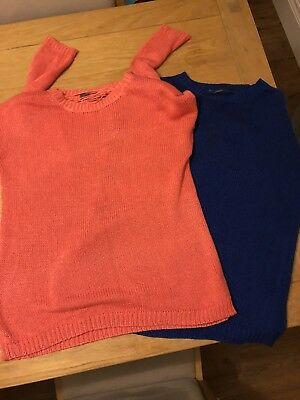Ladies Size 14 Jumper Bundle - All From South - Blue, Pink And Green