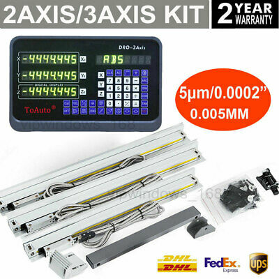2Axis/3Axis Milling Digital Readout DRO Display 5µm TTL Linear Scale Encoder Kit
