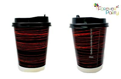 500 Disposable Paper Coffee Tea Cups DOUBLE WALL 12oz Takeaway Cup Insulated Cup