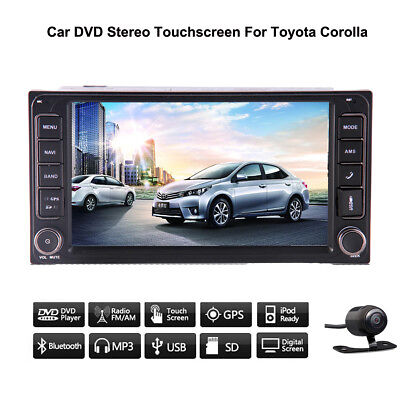 """For Toyota Corolla Car Radio Player GPS Bluetooth HD Touch 7"""" USB SD Map Stereo"""