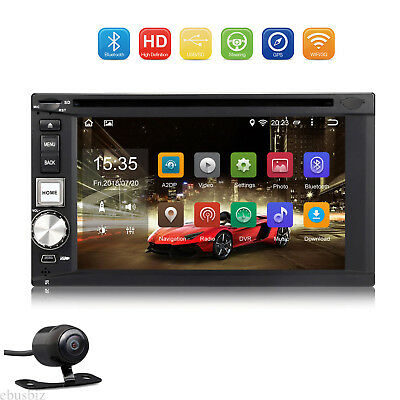 """6.2"""" Android 7.1 Car Radio DVD Player GPS Navi Bluetooth Touch 2DIN Dash +Camera"""