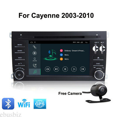 2Din Android 8.1 DVD GPS Navi Player WiFi Bluetooth Stereo For Porsche Cayenne