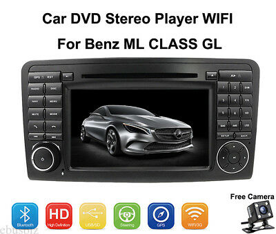 """7"""" Android 7.1 Car Stereo CD DVD Player GPS HD WIFI For Benz ML CLASS GL+Camera"""
