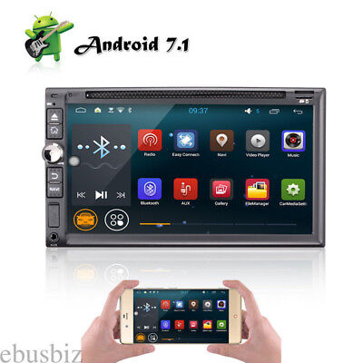 Quad Core Android 7.1 Double 2DIN Car Radio Stereo DVD Player GPS WIFI Bluetooth