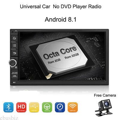 """7"""" Android 8.1 Car DVD Player Radio GPS WIFI BT HD Touch Stereo+ Backup Camera"""